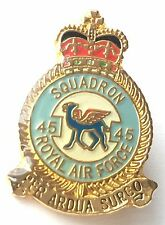 RAF No 45 Squadron Royal Air Force Small Pin Badge *Official Licensed*