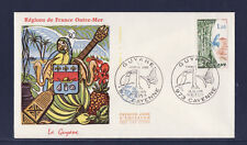 enveloppe 1er jour    Guyane  papillon  Cayenne     1976