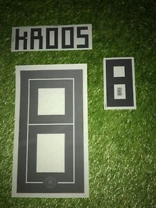 Toni Kroos Player Size Flock Set Home DFB Deutschland WM 18 wie Matchworn Trikot
