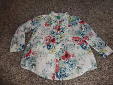 NWOT NEW UNITED COLORS OF BENETTON 82 2T GORGEOUS FLORAL BLOUSE SHIRT
