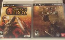 Clash of the Titans & Legends Of Troy Games )Playstation 3) Lot Both Complete