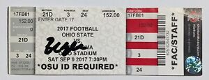 """Sooners #6 BAKER MAYFIELD Signed Autographed """"FLAG PLANT"""" Ticket vs OHIO STATE"""