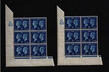 1940 Centenario escasos 2 1/2 D SG 483 Cyl & QCOM 6B & Bloque Cyl Gato £ 100+