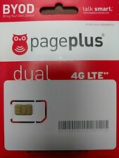 Page Plus 4G LTE DUAL CUT SIM Card for Verizon 4G LTE phones!