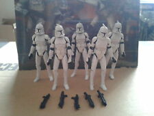Star Wars Battle damaged Clone Troopers with AT-TE logo tactical Battalion lot
