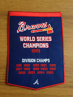 NEW 5 X 7 INCH ATLANTA BRAVES WORLD SERIES CHAMPIONS BANNER IRON ON PATCH