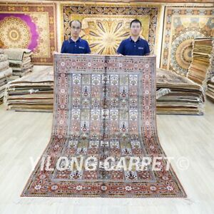 5x8ft Hand Craft Home Decor Silk Rug Four Seasons Hand Knotted Carpet 053C