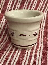 Longaberger Pottery Woven Tradition ~Red~ Candle Votive Holder