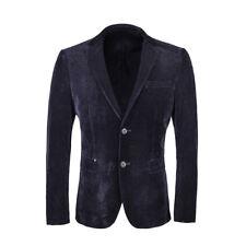 Men's Corduroy Suit Slim Navy Business Leisure Suit Jacket Blazers Jacket Coat