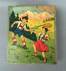 Ancienne boite bois cubes puzzle jouet jeux enfant retro vintage old french toy
