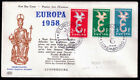 EUROPA CEPT FDC 1958 LUXEMBOURG 2