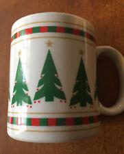 1989 Vintage Houston Foods Christmas Tree Mug Coffee Cup