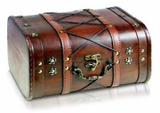 New Vintage Storage Chest Handmade Durable Wooden Treasure Box Trunk Furniture