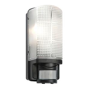 Saxby Motion Outdoor Garden PIR Sensor Bulkhead Security E27 Wall Light IP44