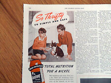 1947 Armstrong Dog Meal Ad Boston Terrier Dog Puppy
