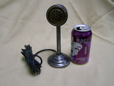 Vintage lollipop Microphone Steel and brass mid century modern industrial