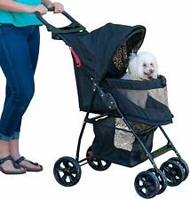 Pet Happy Trails Lite Pet Stroller for Cats Dogs Zipperless Carry