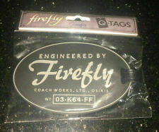"""Serenity- Engineered by Firefly 4"""" Luggage Tag- Loot Crate Exclusive-"""