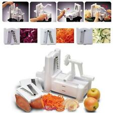 Manual Spiral Vegetable Slicer Spiralizer Veggie Fruit Chopper Cutter Shred