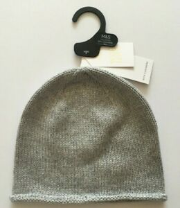 Ladies Grey Marks & Spencer Hat with Cashmere One Size RRP £29.50