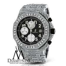 Diamonds Audemars Piguet Royal Oak Offshore Watch With Black Dial
