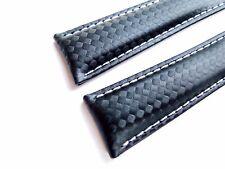 CARBON-BAND speziell passend für Breitling-Faltschließen 20/18, dunkelblau