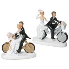 Hochtzeit Deko Brautpaar Tortendeko Tortenfigur Trauung Paar auf Fahrrad