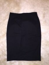 JCrew No 2 Pencil Skirt in bi stretch cotton G0823 00 Black SPRING '17 CURRENT!