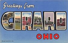 Large Letter postcard Greetings from Girard Ohio