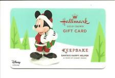 Hallmark Disney Mickey Mouse Santa's Happy Helper Gift Card No$Value Collectible