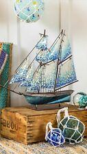 Beautiful Nautical Sailboat Mosaic glass and metal