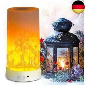 LED Flame Lamp, PDGROW USB Rechargeable Flame Night Light, Desk Lamp Waterproof