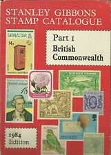 Stanley Gibbons Stamp Catalogue 1984 Pt. 1 British Commonwealth hardcover used~
