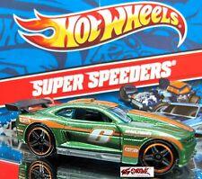 Hot Wheels 2012 SUPER SPEEDERS #6 Custom '11 Camaro DK GREEN,KROGER'S EXCLUSIVE