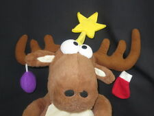 CHRISTMAS FLOPPY REINDEER HANGING ORNAMENTS STAR PLUSH STUFFED ANIMAL BIG TOY