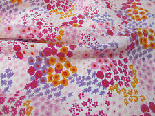 Pink & Purple Ditsy Floral Crepe De Chine Printed Dress Fabric. Price Per Metre!