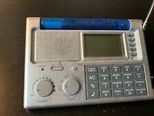 Ultronic Portable Ws-9 Lcd World Travel Alarm Clock Radio W/ Calculator
