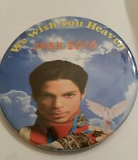 "PRINCE ROGERS NELSON ""WISH YOU HEAVEN"" MEMORIAL BUTTONS- MEMORABILIA-NEW!!"
