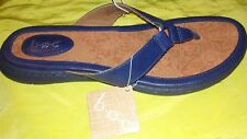 NEW BOC BORN  Women's  SHOES Sandals Thongs  Flip Flop NAVY SIZE 9 NEW
