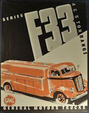 1938 GMC F-33 COE Truck Brochure Folder Cab Over Engine Excellent Original 38