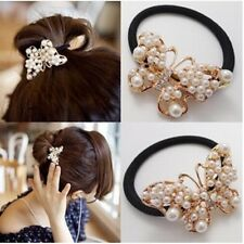 Alloy Hair Band For Ladies Hair Jewelry Hair Rope Hair Accessories White Pearl