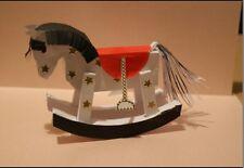 Recuerdo Bebé Caballo Mecedora 3D tarjeta de papel de regalo plantilla