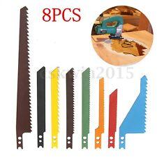 8pcs JigSaw Blade Set Sabre Scroll Assortment Blades Wood Metal Steel Drywall