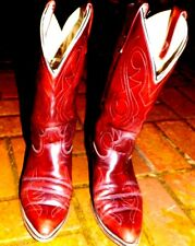 Men s Cowboy Red Lizard Boots,Size 12 Model 932001 Made in Usa