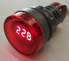 lampada spia voltmetro Tensione AC50 ~ 400V volt  D=22 millimetri