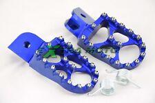Pedane maggiorate in ergal CNC per BMW F 650 700 800 GS R1200GS BLU F800GS