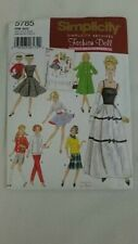 Simplicity Archive Fashion Doll Clothes Patterns 5785 Barbie Vintage Style