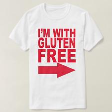 "I""I'm with Gluten-Free"" white T-shirt"