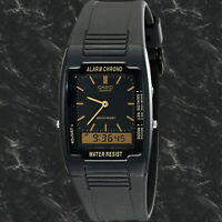 Casio AQ47-1E Mens Classic Analog Digital Watch Dual Time Alarm Stopwatch New
