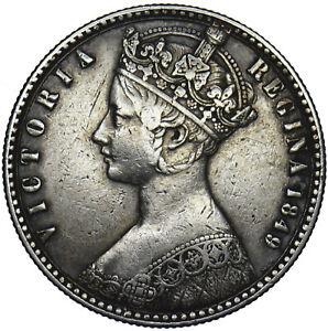 1849 FLORIN - VICTORIA BRITISH SILVER COIN - NICE